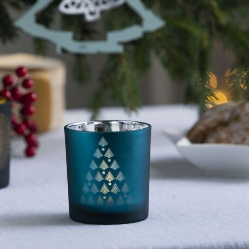 Tea Light Holder 8cm Sky
